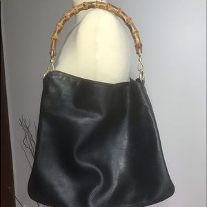 Authentic black leather bag